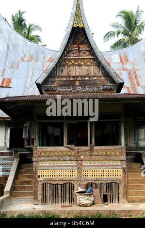 Rumah Minangkabau Belimbing Bukittingi Sumatra Indonesien - Stockfoto