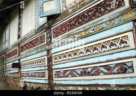 Rumah Minangkabau Bukittingi Sumatra Indonesien - Stockfoto