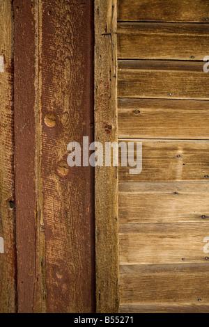Detail der knorrigen, verknoteten Holz in der Geisterstadt Bodie - Stockfoto