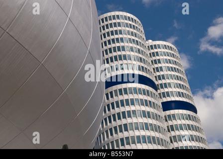 Architektonisches Detail des BMW Museum in München - Stockfoto