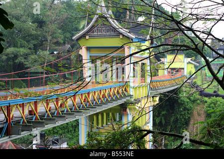 Fußgängerbrücke Bukittingi Sumatra Indonesien - Stockfoto