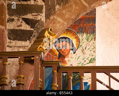 Engel Malerei Parroquia Kirche Kirche San Miguel De Allende Mexiko Interieur des fertig in den 1800er Jahren - Stockfoto