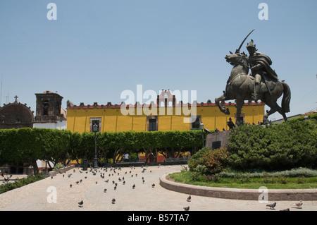 Plaza de Allende, ein Quadrat in der Nähe von Templo de Nuestra Senora De La Salud Kirche, San Miguel de Allende, - Stockfoto