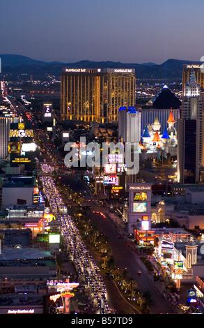 Las Vegas Strip bei Nacht, Las Vegas, Nevada, Vereinigte Staaten von Amerika, Nordamerika - Stockfoto