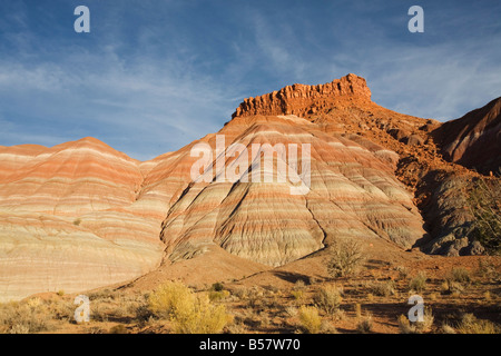 Klippen bei Sonnenuntergang, Paria Movie Set, Grand Staircase-Escalante National Monument in der Nähe von Page, - Stockfoto