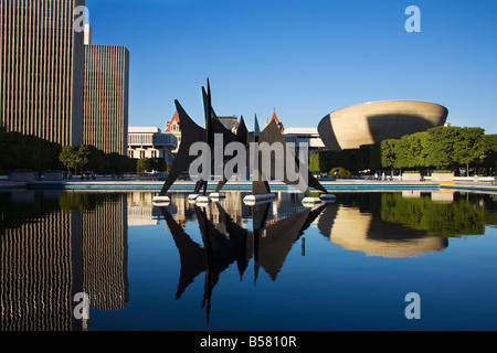 Corning Tower in Empire State Plaza State Capitol Complex, Albany, New York State, Vereinigten Staaten von Amerika, - Stockfoto