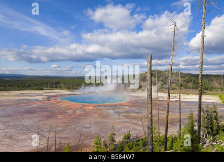 Grand Prismatic Spring, Midway Geyser Basin, Yellowstone Nationalpark, UNESCO World Heritage Site, Wyoming - Stockfoto