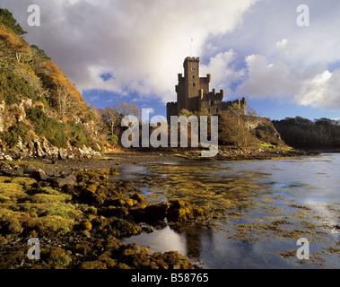 Dunvegan Castle, Stammsitz der Clan MacLeod, Isle Of Skye, innere Hebriden Hochlandregion, Schottland, Vereinigtes - Stockfoto