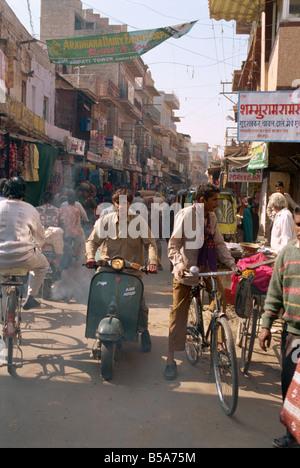 Straßenszene Jodhpur Rajasthan Staat Indien Asien - Stockfoto