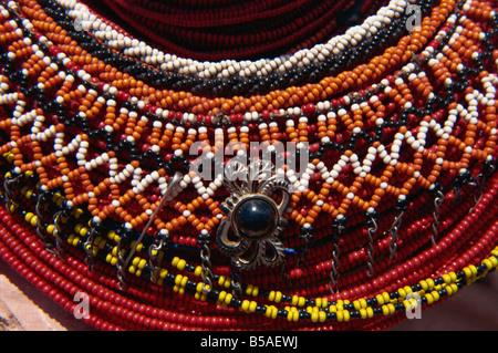 Nahaufnahme von Samburu dekorative Perlen Kenia Afrika D Harcourt Webster - Stockfoto