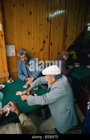 Phaeton-Fahrer Spielkarten, Büyük Ada, Prinzeninseln (Kizil Adalar), Türkei, Eurasien - Stockfoto