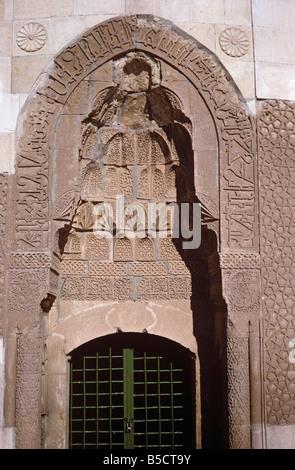 Eingang zum Mama Hatun Kümbet (Seljuk 1182), Tercan, Türkei 690209_101L - Stockfoto