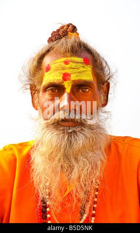 Sadhu hinduistischen heiligen Mann Varanasi Uttar Pradesh, Indien - Stockfoto
