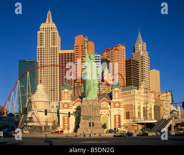 New York New York Hotel in Las Vegas Nevada Vereinigten Staaten von Amerika-Nordamerika - Stockfoto