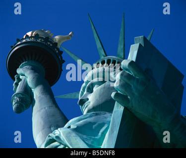 Nahaufnahme von der Freiheitsstatue in New York-Vereinigte Staaten von Amerika-Nordamerika - Stockfoto