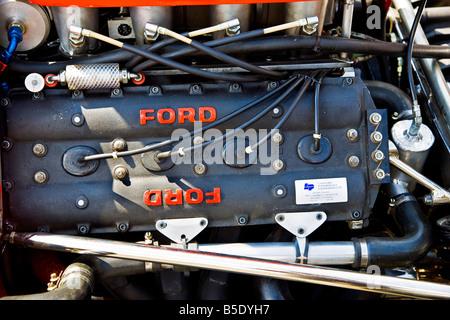 Ford F1-Motor auf eine historische Formel 1-grand-Prix-Auto - Stockfoto