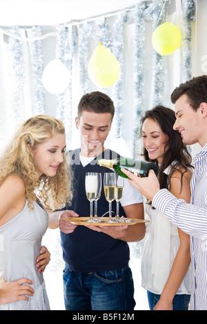 Trinken Champagner Party Freunde - Stockfoto