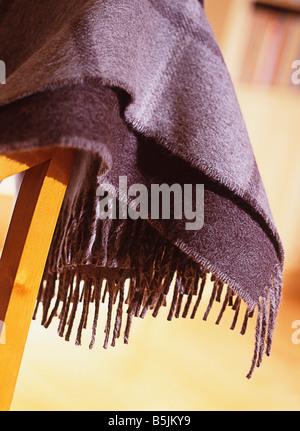 Nahaufnahme Detail des Teppichs auf Stuhl - Stockfoto