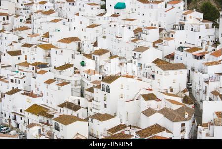 Casares Malaga Costa del Sol Spanien Detail des Dorfes - Stockfoto