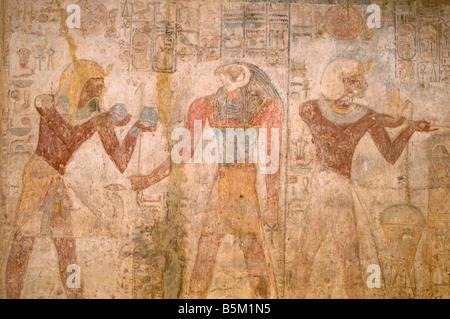 Wandrelief im Inneren Tempel Ramses II (Beit el Wali) in Kalabscha-Tempel in der Nähe von Assuan Ägypten komplexer - Stockfoto