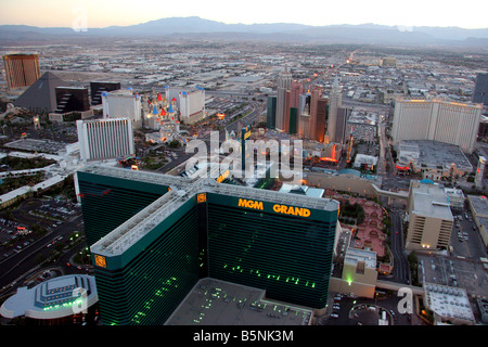 Hotels und Casinos am Strip in Las Vegas Nevada - Stockfoto