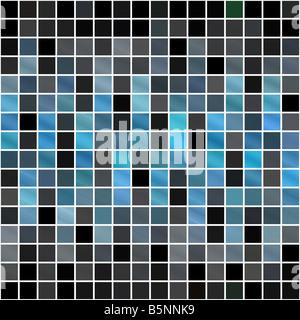 Eine blaue Fliesen oder Pixel Textur, die sich nahtlos als Muster Fliesen - Stockfoto