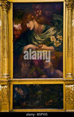 """""""Gesegnet Damozel"""" von Dante Gabriel Rossetti 1873-1880 in das Innere der Lady Hebel Gallery in Port Sunlight Modelldorf - Stockfoto"""
