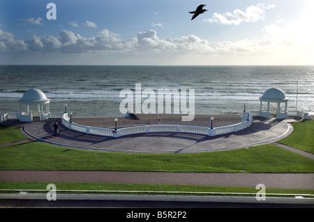 Die Colonade an der Küste von Bexhill am Meer East Sussex, England, ein ruhiges Edwardian Resort. - Stockfoto