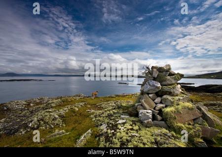 Landschaft Meereslandschaft Inishbofin Insel an der Westküste von Irland - Stockfoto