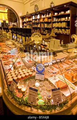 Dahlmeier Feinkost Shop Kaviar München Deutschland - Stockfoto