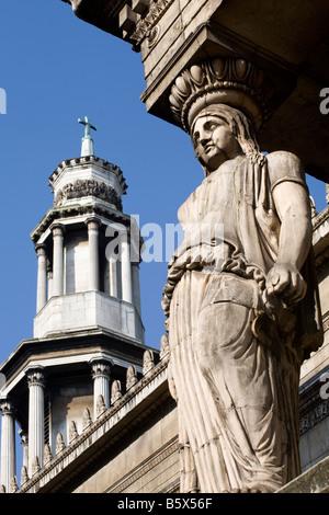 St Pancras neue Kirche. Bloomsbury, London, England, UK - Stockfoto