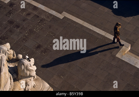 Swooping Elster, Melbourne, Australien - Stockfoto