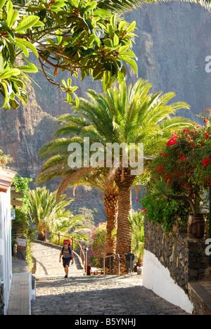Restaurant Suche, Dorf Masca, die Teno, Teneriffa, Kanarische Inseln, Spanien - Stockfoto