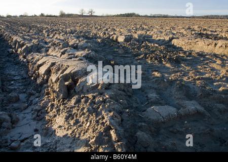 Ein frisch gepflügten Feld - Stockfoto