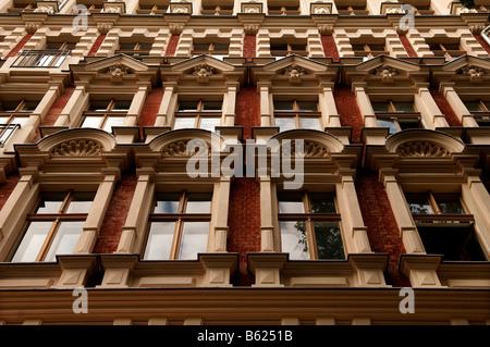Renovierte Wohnungen, Fassade, Prenzlauer Berg, Berlin, Deutschland, Europa - Stockfoto