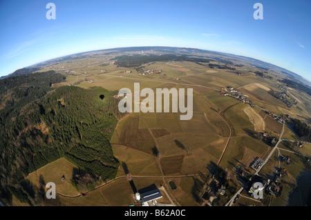 Blick aus einem Heißluftballon, Ballonfahrt, nahe Zeller See, Austria, Europe - Stockfoto