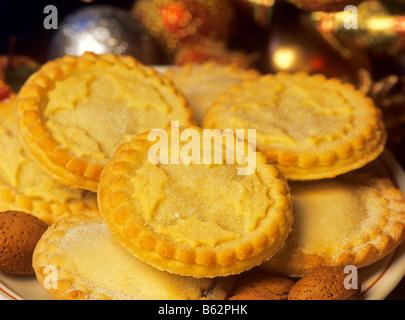 Festliche Mince pies - Stockfoto