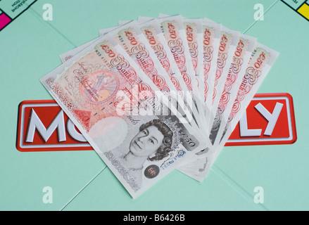 Pfund auf ein Monopol Brettspiel - Stockfoto