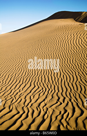 Wind geblasene Wellen im Sand Dünen Maspalomas Gran Canaria Spanien - Stockfoto