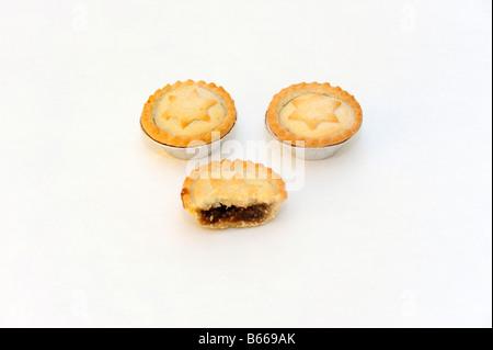 Mince Pie Ausschneiden - Stockfoto