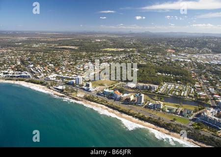 Alexandra Headland Strand Sunshine Coast Queensland Australien Antenne - Stockfoto