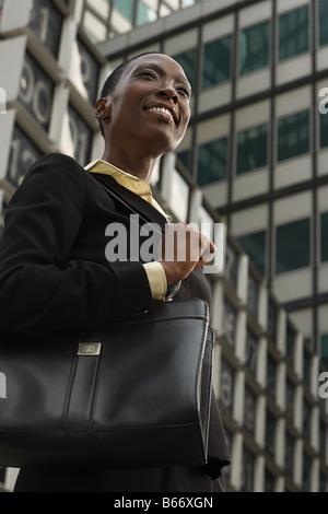 Lächelnde Geschäftsfrau - Stockfoto