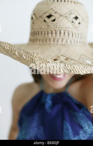 Junge Frau mit Hut, Wien, Österreich - Stockfoto