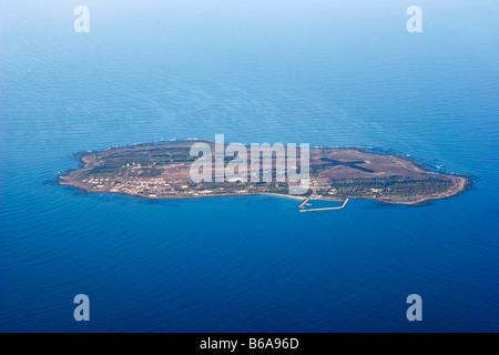 Luftaufnahme von Robben Island, Cape Town, Südafrika - Stockfoto