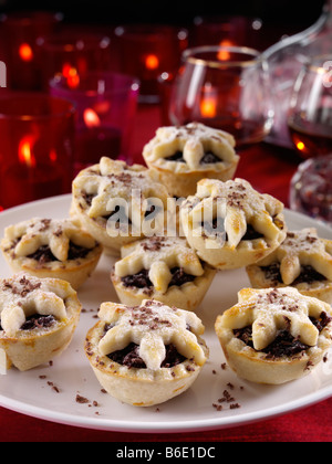Redaktion essen Schokolade Mince pies - Stockfoto