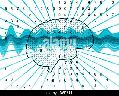 Künstliche Intelligenz, konzeptionelle Computer Grafik - Stockfoto