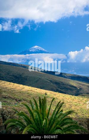 Spanien, Kanarische Inseln, La Gomera Insel, in der Nähe von Playa de Santiago, Blick von El Teide Vulkan auf der - Stockfoto