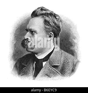 Friedrich Wilhelm Nietzsche, 15. Oktober 1844 Röcken bei Lützen - 25. August 1900 Weimar - Stockfoto