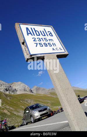Gipfel-ALBULA-PASS, 2315m, Bergün entfernt, Graubündens, der Schweiz, Europa - Stockfoto