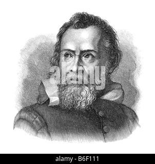 Galileo Galilei, 15. Februar 1564 Pisa - 8. Januar 1642 Arcetri bei Florenz - Stockfoto